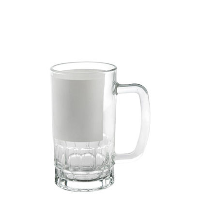 Picture of MUG GLASS - BEER 20oz.- Clear+White Patch