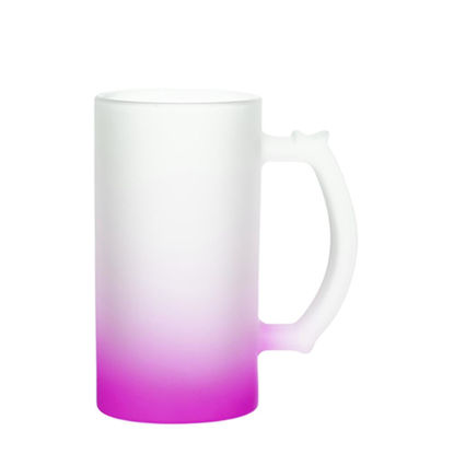 Picture of BEER GLASS (Frosted) PURPLE Gradient 16oz