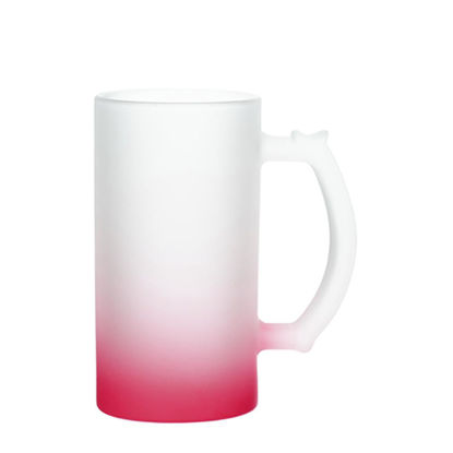 Picture of BEER GLASS (Frosted) RED Gradient 16oz