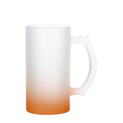 Picture of BEER GLASS (Frosted) ORANGE Gradient 16oz