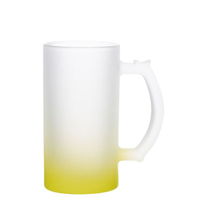 Picture of BEER GLASS (Frosted) YELLOW Gradient 16oz