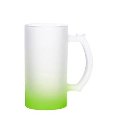 Picture of BEER GLASS (Frosted) GREEN Gradient 16oz