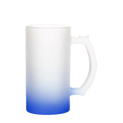 Picture of BEER GLASS (Frosted) BLUE DARK Gradient 16oz