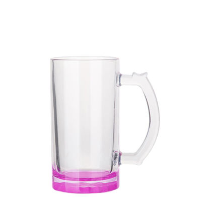 Picture of BEER GLASS (Clear) PURPLE bottom 16oz