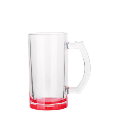Picture of BEER GLASS (Clear) RED bottom 16oz