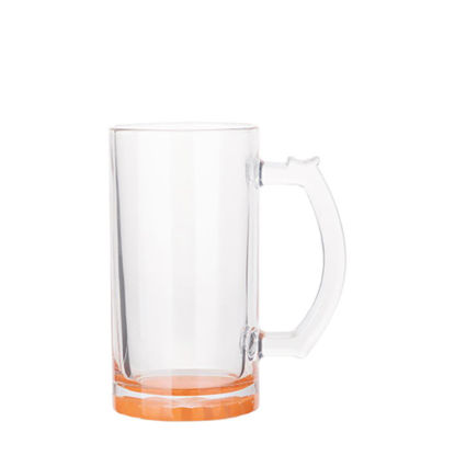 Picture of BEER GLASS (Clear) ORANGE bottom 16oz