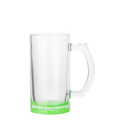 Picture of BEER GLASS (Clear) GREEN bottom 16oz
