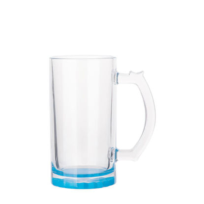 Picture of BEER GLASS (Clear) BLUE LIGHT bottom 16oz