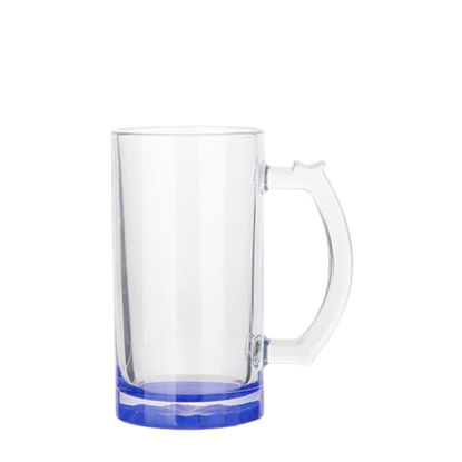 Picture of BEER GLASS (Clear) BLUE DARK bottom 16oz