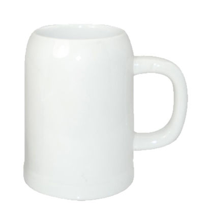 Picture of BEER MUG - WHITE/GLOSS -  1 L orca