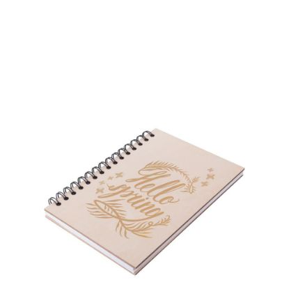 Picture of NOTEBOOK PLYWOOD/3mm (A5) WIRO 80pages