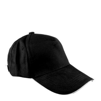 Εικόνα της CAP full (ADULT) BLACK cotton