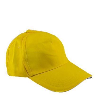 Picture of CAP full (ADULT) YELLOW cotton