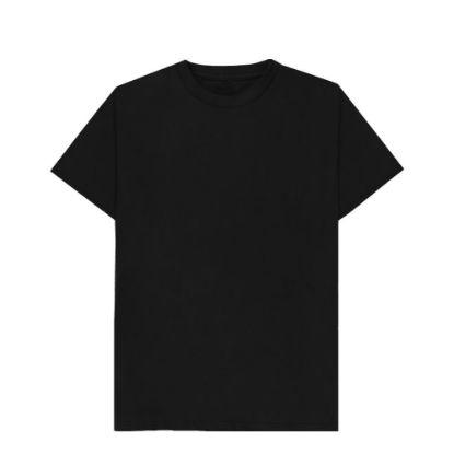 Εικόνα της T-SHIRT cotton - BLACK (S) unisex