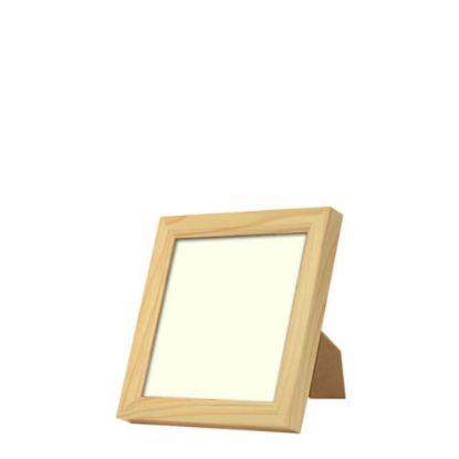 Εικόνα της Wood Photo Frame - Light Brown 15.2x15.2cm (Functional)