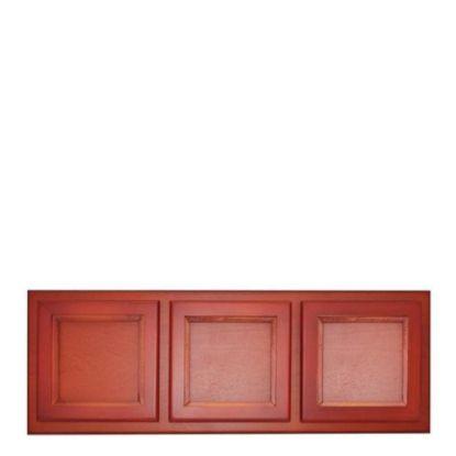 Εικόνα της Wood Photo Frame - Cherry (3 photos) 48.5x17.5cm