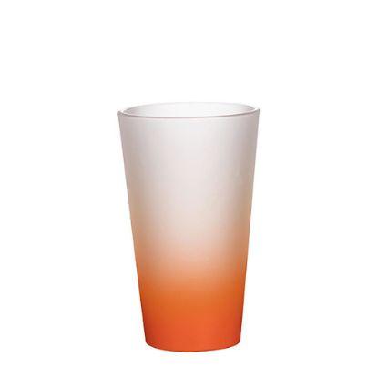 Εικόνα της MUG GLASS -17oz LATTE (FROST) ORANGE Gradient