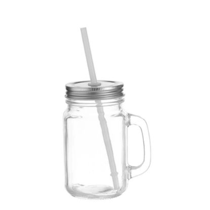 Picture of MUG GLASS - MASON JAR 350ml - CLEAR square