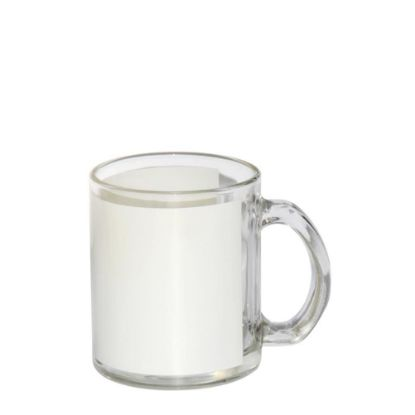 Picture of MUG GLASS - 11oz Clear (White Patch)