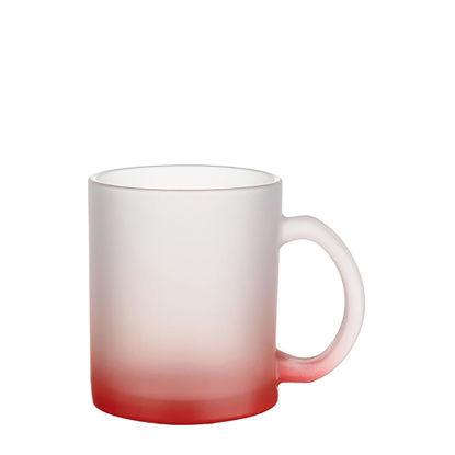 Εικόνα της MUG GLASS -11oz (FROSTED) RED Gradient