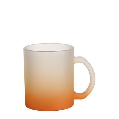 Εικόνα της MUG GLASS -11oz (FROSTED) ORANGE Gradient