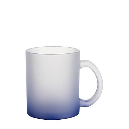 Εικόνα της MUG GLASS -11oz (FROSTED) BLUE DARK Gradient