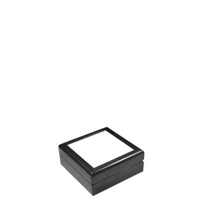 Picture of JEWELRY BOX - BLACK - 138x138x55mm