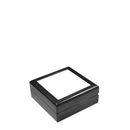 Picture of JEWELRY BOX - BLACK - 182x182x70mm