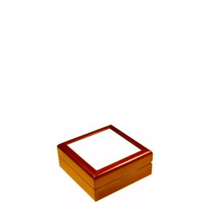 Picture of JEWELRY BOX - BROWN - 138x138x55mm