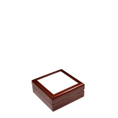 Picture of JEWELRY BOX - MAROON - 138x138x55mm