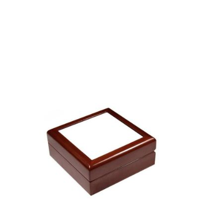 Picture of JEWELRY BOX - MAROON - 182x182x70mm