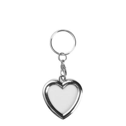 Εικόνα της KEY-RING - METAL (FRAME 2 sided) HEART