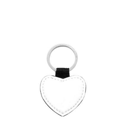Εικόνα της KEY-RING - LEATHER 2sided (Heart)