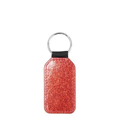 Εικόνα της KEY-RING - Leather (GLITTER) BARREL red