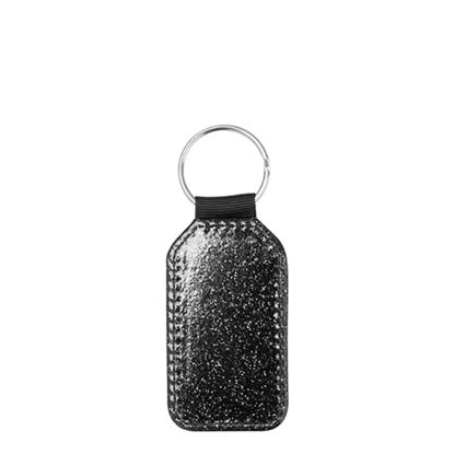 Εικόνα της KEY-RING - Leather (GLITTER) BARREL black