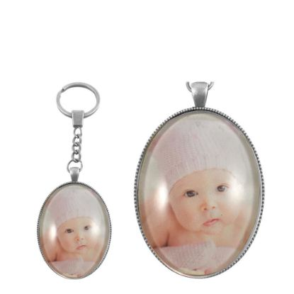 Picture of KEY-RING - ALLOY oval silver (P034)