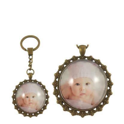 Picture of KEY-RING - ALLOY round gold (P040)