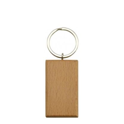 Picture of KEY-RING - WOODEN (Rectangular)