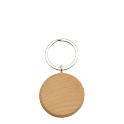 Picture of KEY-RING - WOODEN (Round)