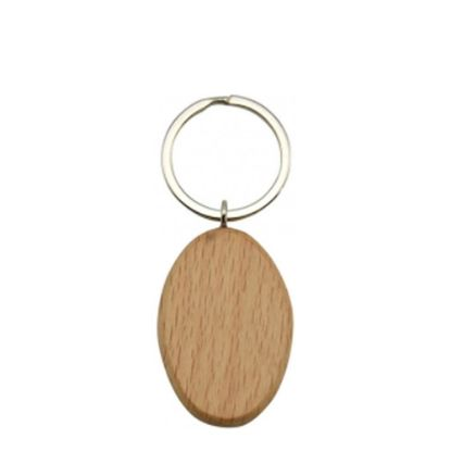 Picture of KEY-RING - WOODEN (Oval)
