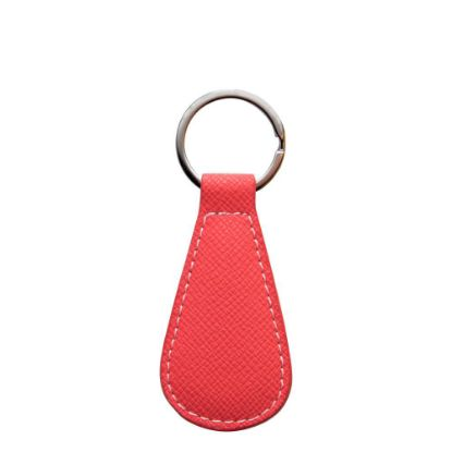 Picture of KEY-RING - PU LEATHER (WaterDrop) RED