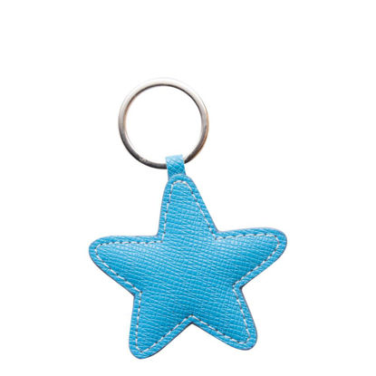 Picture of KEY-RING - PU LEATHER (Star) BLUE LIGHT