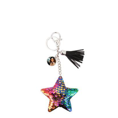 Εικόνα της KEY-RING - (SEQUIN) STAR mixed colors