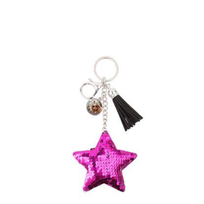 Εικόνα της KEY-RING - (SEQUIN) STAR rose red
