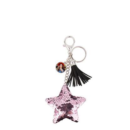 Εικόνα της KEY-RING - (SEQUIN) STAR pink