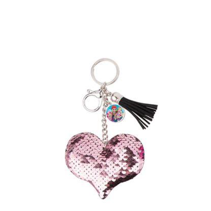 Εικόνα της KEY-RING - (SEQUIN) HEART pink