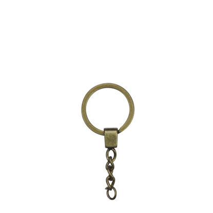 Picture of METAL ring + METAL tab GOLDEN ANTIQUE
