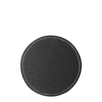 Εικόνα της COASTER (LEATHER) ROUND 9.5cm - BLACK