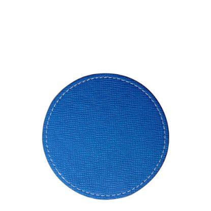 Εικόνα της COASTER (LEATHER) ROUND 9.5cm - BLUE