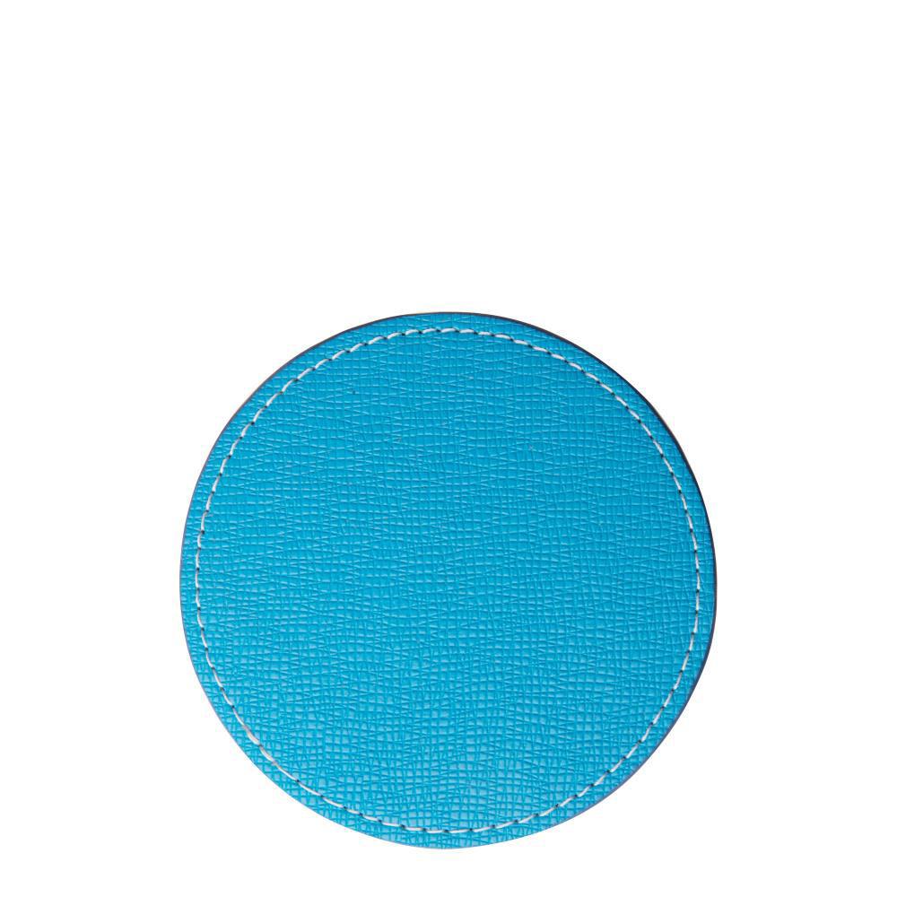 Εικόνα της COASTER (LEATHER) ROUND 9.5cm - BLUE LIGHT